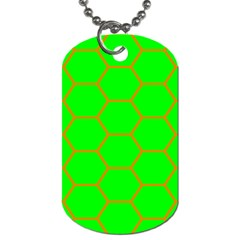 Bee Hive Texture Dog Tag (one Side)