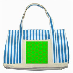 Bee Hive Texture Striped Blue Tote Bag