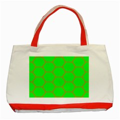 Bee Hive Texture Classic Tote Bag (red)