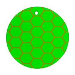 Bee Hive Texture Round Ornament (two Sides)