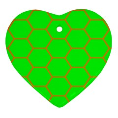 Bee Hive Texture Heart Ornament (two Sides)