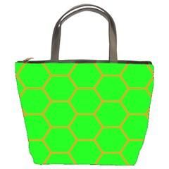 Bee Hive Texture Bucket Bags