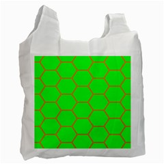 Bee Hive Texture Recycle Bag (one Side)