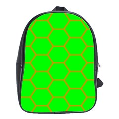 Bee Hive Texture School Bags(large)