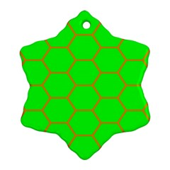 Bee Hive Texture Snowflake Ornament (two Sides)
