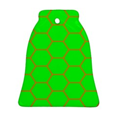 Bee Hive Texture Bell Ornament (two Sides)