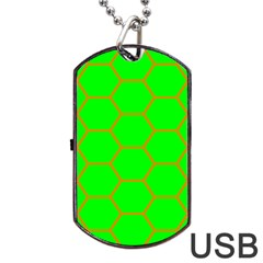Bee Hive Texture Dog Tag USB Flash (One Side)
