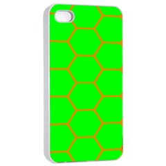 Bee Hive Texture Apple Iphone 4/4s Seamless Case (white)