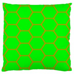 Bee Hive Texture Large Cushion Case (one Side)