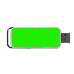 Bee Hive Texture Portable Usb Flash (two Sides)