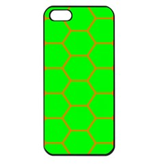 Bee Hive Texture Apple Iphone 5 Seamless Case (black)