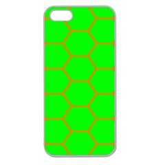 Bee Hive Texture Apple Seamless Iphone 5 Case (clear)