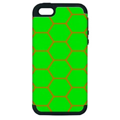 Bee Hive Texture Apple Iphone 5 Hardshell Case (pc+silicone)