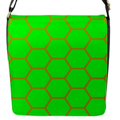 Bee Hive Texture Flap Messenger Bag (s)