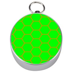 Bee Hive Texture Silver Compasses
