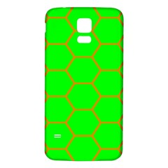 Bee Hive Texture Samsung Galaxy S5 Back Case (white)