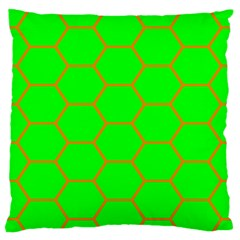 Bee Hive Texture Standard Flano Cushion Case (one Side)