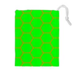 Bee Hive Texture Drawstring Pouches (extra Large)