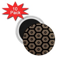 Black Bee Hive Texture 1 75  Magnets (10 Pack)
