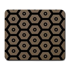 Black Bee Hive Texture Large Mousepads