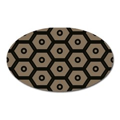 Black Bee Hive Texture Oval Magnet