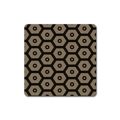 Black Bee Hive Texture Square Magnet