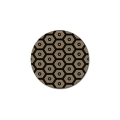 Black Bee Hive Texture Golf Ball Marker