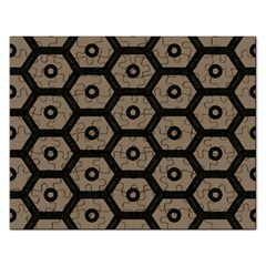 Black Bee Hive Texture Rectangular Jigsaw Puzzl