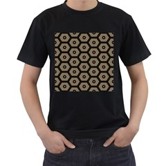 Black Bee Hive Texture Men s T Shirt (black) (two Sided)