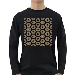 Black Bee Hive Texture Long Sleeve Dark T Shirts