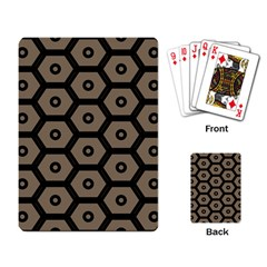 Black Bee Hive Texture Playing Card