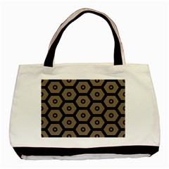 Black Bee Hive Texture Basic Tote Bag
