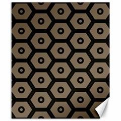 Black Bee Hive Texture Canvas 8  X 10