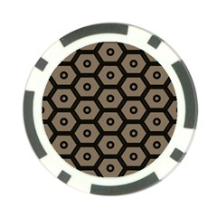 Black Bee Hive Texture Poker Chip Card Guard