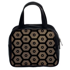 Black Bee Hive Texture Classic Handbags (2 Sides)