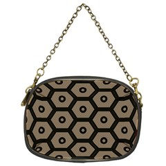 Black Bee Hive Texture Chain Purses (one Side)