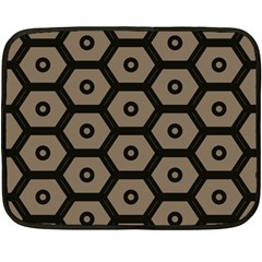 Black Bee Hive Texture Fleece Blanket (mini)
