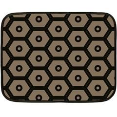 Black Bee Hive Texture Double Sided Fleece Blanket (mini)