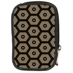 Black Bee Hive Texture Compact Camera Cases