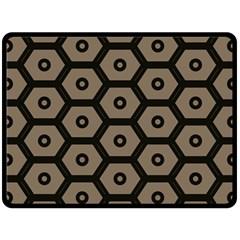 Black Bee Hive Texture Fleece Blanket (large)