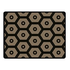 Black Bee Hive Texture Fleece Blanket (Small)