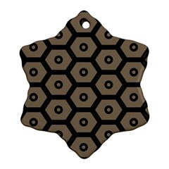 Black Bee Hive Texture Ornament (Snowflake)