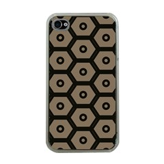 Black Bee Hive Texture Apple Iphone 4 Case (clear)