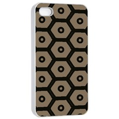 Black Bee Hive Texture Apple Iphone 4/4s Seamless Case (white)