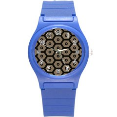 Black Bee Hive Texture Round Plastic Sport Watch (s)