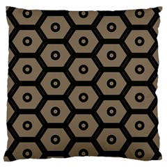 Black Bee Hive Texture Large Cushion Case (one Side)