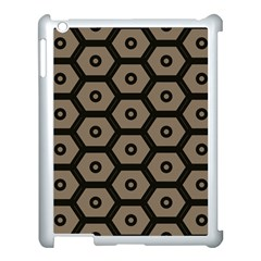 Black Bee Hive Texture Apple Ipad 3/4 Case (white)