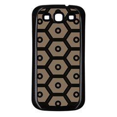 Black Bee Hive Texture Samsung Galaxy S3 Back Case (black)