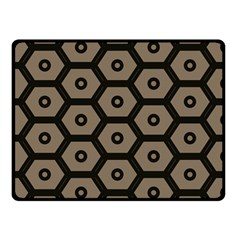Black Bee Hive Texture Double Sided Fleece Blanket (small)