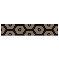 Black Bee Hive Texture Flano Scarf (small)